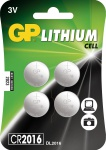 "GP Knopfzellen-Multipack ,, CR2016"" CR2016 Knopfzelle 4er 0602016c4"