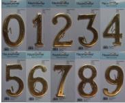 Hausnummer Nummer für Haus Messing Höhe 15cm 1-9 neu