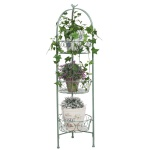 Metall Blumentopfhalter antik grün 3 Körbe 110cm Blumenständer Blumenampel Regal