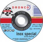 Dronco TRENNSCHEIBE Spezialtrennscheiben für Metall 180x1, 6 Inox