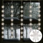 LED Lichtervorhang Schneeflocken 75x85cm 40 LED Lichter