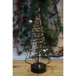 Metall-Weihnachtsbaum 42cm 85LED Dekotanne Tannenbaum Weihnachtsdeko Fensterdeko