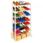 Schuhregal für 21 Paar Schuhe 7 Ablagefächer Schuhschrank Regal Ablage Camping