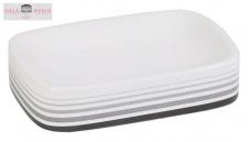 Villa Wesco Keramik / Edelstahl Seifenschale Seifenablage Seifenhalter weiß neu