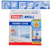 Tesa Moll Thermo Cover Fenster-Isolierfolie transparent 1, 7x1, 5 m Kälteschutz