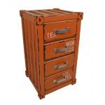 Schubladenschrank Industrie-Container-Design orange Kommode Nachtschrank Schrank