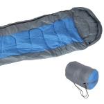 Schlafsack blau Mumienschlafsack +Tasche Deckenschlafsack Camping Zelten Outdoor