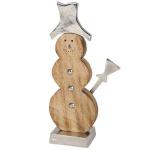 Deko-Schneemann 27cm Winterdeko Weihnachtsdeko Dekofigur Tischdeko Holzfigur