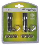 2er-Set LED Taschenlampe Handlampe Schlüsselanhänger Flashlight Leuchte klein