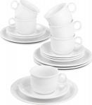 Seltmann Weiden SEL Kaffeeservice 1716172 Ka-set 18tlg Compact Weis Uni7