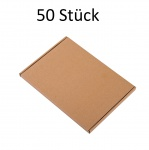50 Stück Wellpapp-Faltkarton Großbrief Verpackung Faltpappe Pappkarton Versand