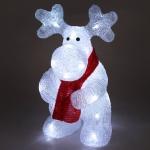 LED Deko-Rentier aus Acryl 36cm Weihnachtsdeko Weihnachtsfigur Dekofigur Elch