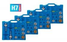 4x Auto-Ersatzlampen-Koffer H7 Scheinwerfer Bremslicht Blinklicht Rücklicht