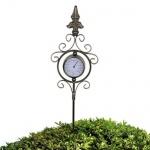 Metall Gartenthermometer 90cm Außenthermometer Thermometer Gartendeko Garten
