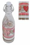 Lory Flasche 0, 5Liter Country Love mit Bügelverschluss Abfüllen Fluppverschluss