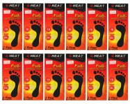 "12 Paar Fußsohlenwärmer "" Heat Feet"" Wärmesohlen Schuhwärmer Sohle Fußwärmer"