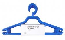 10 Kleiderbügel blau Aufbewahrung Hänger Kleiderhänger Hosenbügel Krawatte Jacke