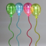 Solar LED 4er Ballon Set mit Schalter Leuchtdeko Deko Garten Gartendekoration