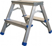 ap alpfa gmbh DOPPEL-STUFENLEITER Stufen-Doppelleiter 800359 Alu 2x2