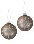 Glas-Weihnachtsbaumkugeln Perla 2er-Set Christbaumschmuck Weihnachtsdeko 9cm