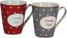 "DRAGIMEX BECHER ,, Frohes Fest"" 61097 Frohes Fest Sort"