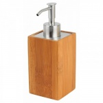 Seifenspender Bambus Spender Seife Lotionspender Waschbecken Badezimmer WC Neu