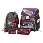 Schulranzen-Set Formel1 5tlg Tornister Sportbeutel Federtasche gefüllt Rucksack