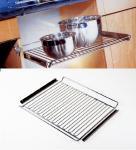 Wesco Einbau Herdrost 600 mm chrom mit Auflagewinkel Ablage Küchenablage