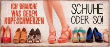 "la vida LAVI Schild ,, Schuhe"" 390711 Meta-schild30, 5x13schuhe"