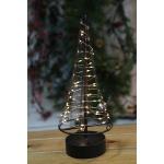 Metall-Weihnachtsbaum 32cm 60LED Dekotanne Tannenbaum Weihnachtsdeko Fensterdeko