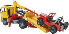 Bruder Spielwaren MAN-ABSCHLEPP MAN Abschlepp LKW mit Geländewagen 02750 Lkw-geländewagen