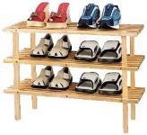 Schuhregal mit 3 Ablagen aus Pinienholz
