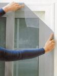 Fliegengitter für Fenster 130 x 150 cm grau