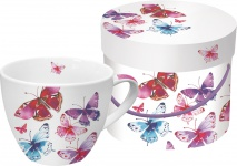 """ppd Café au Lait Tasse ,, Butterflies"""" 602823 Cafe Alaut Butter."""