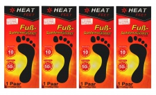 "4 Paar Fußsohlenwärmer "" Heat Feet"" Wärmesohlen Schuhwärmer Sohle Fußwärmer"