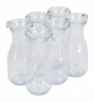 6tlg. Set Delikatessen Glas Flasche 0, 5L Einmachflasche Dekoflasche Trinkflasche