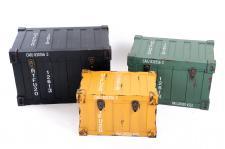 Kommode 3 tlg. Container Design Aufbewahrungskiste Aufbewahrungsbox Truhe Kiste