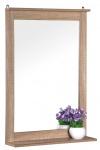 Badezimmerspiegel mit Ablage Eichenoptik 50x70cm Wandspiegel Badspiegel Badmöbel