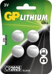 "GP Knopfzellen-Multipack ,, CR2025"" CR2025 Knopfzelle 4er 0602025c4"
