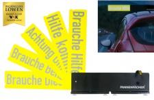 PKW-Hinweisschilder reflektierend Auto Pannenfächer Unfallhilfe Pannenhilfe