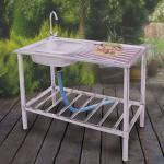 Edelstahl Waschtisch Küchenspüle Spülbecken Armatur Gartenwaschtisch Waschbecken