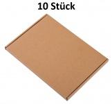 10 Stück Wellpapp-Faltkarton Großbrief Verpackung Faltpappe Pappkarton Versand