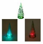 LED Tannenbaum mit Farbwechsler 14cm Winterdeko Weihnachtsbaum Leuchttanne Deko