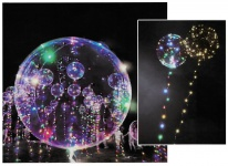 12x LED Heliumballon Luftballon Lichterkette bunt Partydeko Hochzeit Strandparty