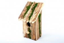 Vogel Nisthöhle aus Holz 11x9x22cm Nistkasten Vogelhäuschen Vogelhaus Gartendeko