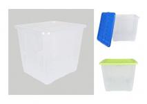 Aufbewahrungsbox mit Deckel 110L Spielzeugkiste Allzweckbox Stapelbox Transport