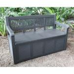 2-Sitzer Gartenbank mit Aufbewahrungsbox Kissentruhe Auflagenbox Polstertruhe