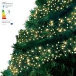 1152 LED-Cluster-Lichterkette 10, 5m warmweiß IP44 Weihnachtsbaumbeleuchtung Deko