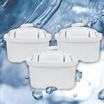 3er-Set Filterkartuschen für Wasser-Filterkanne Wasserfilter Trinkwasserfilter