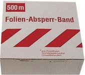 ABSPERRBAND Gütefolienabsperrband Pvc Guete 1 Rot/w 500mtr